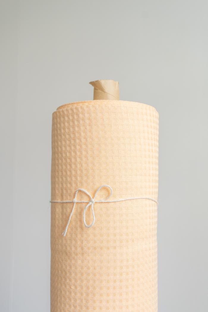 Ткань вафельная п лен персик фото 1>                   <span class=