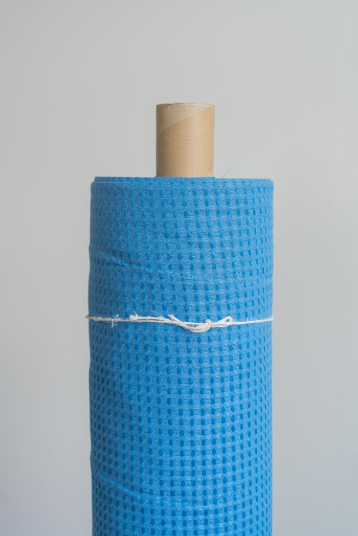Ткань вафельная п лен синяя птица фото 1>                   <span class=