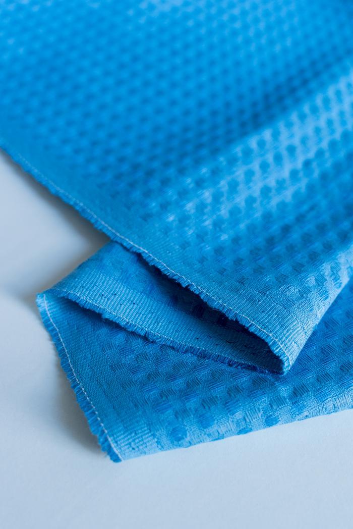 Ткань вафельная п лен синяя птица фото 6>                   <span class=