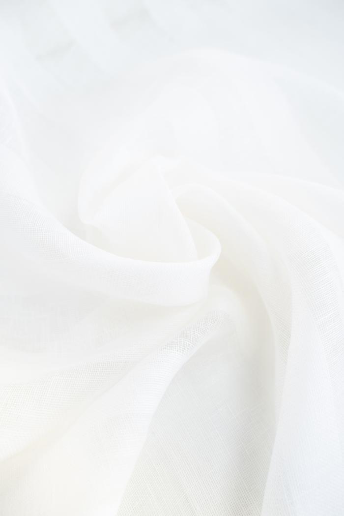 Ткань вуаль лен 100 белый тюльпан фото 6>                   <span class=