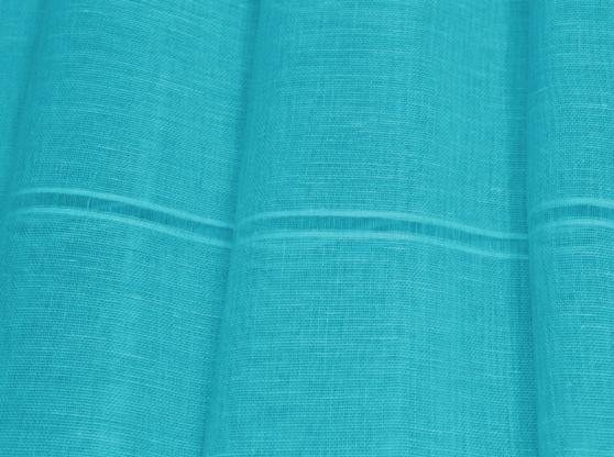 Ткань вуаль лен 100 карибское море фото 1>                   <span class=
