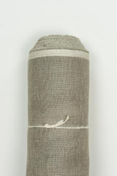 Ткань вуаль лен 100 серый лен фото 1