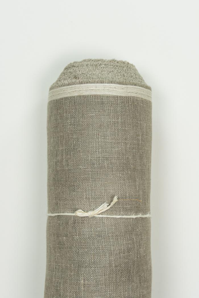 Ткань вуаль лен 100 серый лен фото 1>                   <span class=