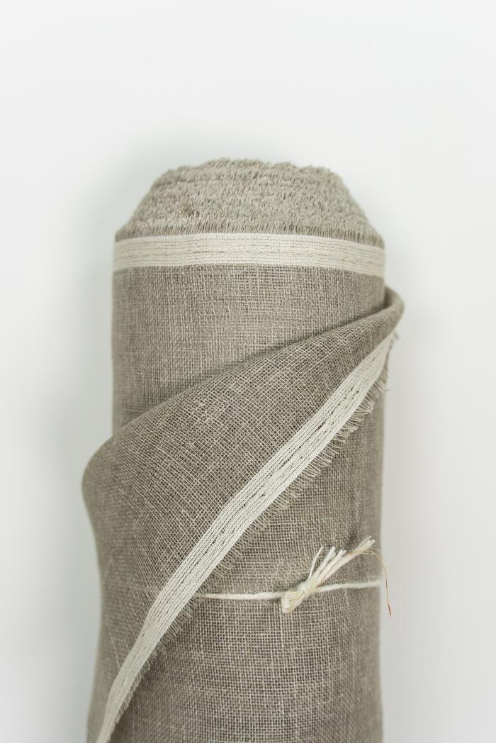 Ткань вуаль лен 100 серый лен фото 2>                   <span class=