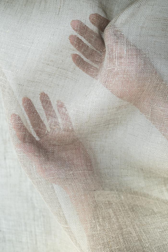 Ткань вуаль лен 100 серый лен фото 4>                   <span class=