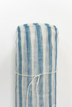 Ткань вуаль п лен полоски морские фото 1